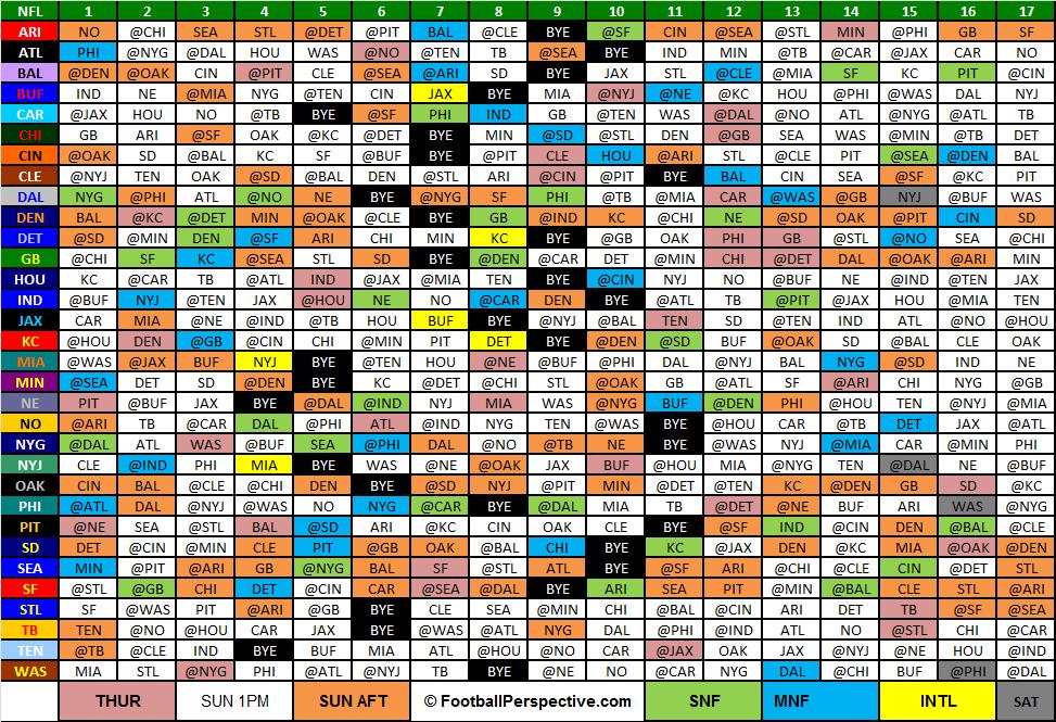 The 2015 NFL ScheduleSteelers Schedule