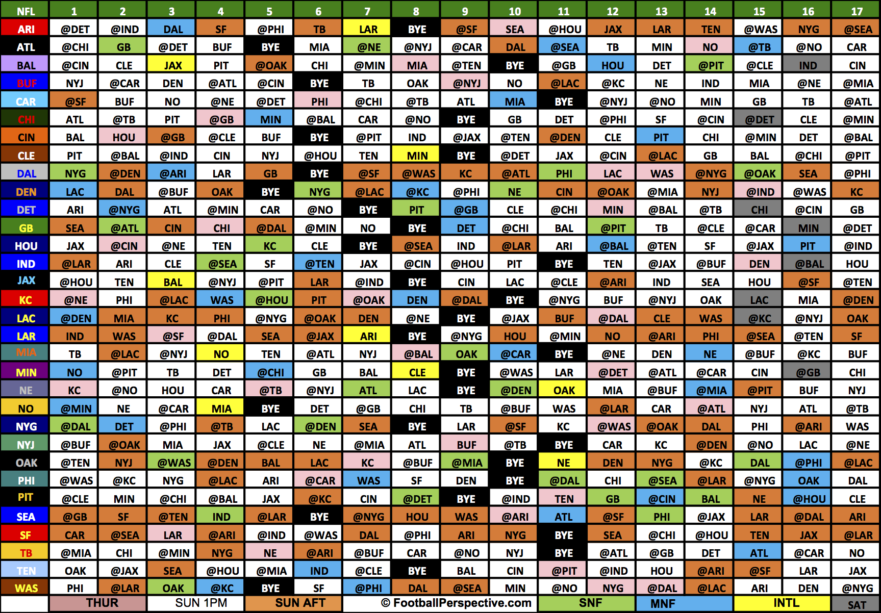 Christmas Day Nfl Schedule 2019 The 2017 NFL Schedule